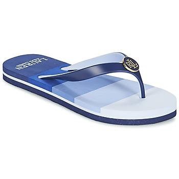 Skor Dam Flip-flops Ralph Lauren ELISSA III SANDALS CASUAL Blå