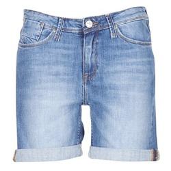 textil Dam Shorts / Bermudas Lee BOYFRIEND SHORT Blå