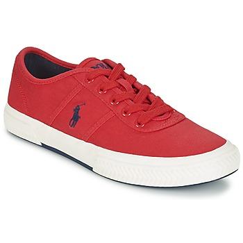 Skor Herr Sneakers Ralph Lauren TYRIAN Röd