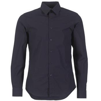 textil Herr Långärmade skjortor G-Star Raw CORE SHIRT Marin
