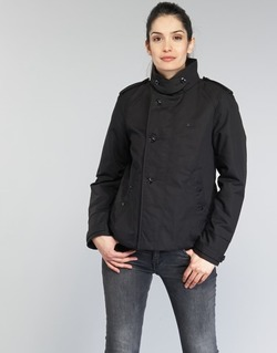 textil Dam Trenchcoats G-Star Raw FLORENCE CROPPED Svart