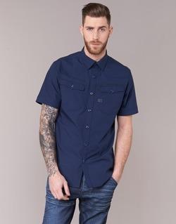 textil Herr Kortärmade skjortor G-Star Raw 3301 SHIRT Marin