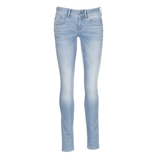 textil Dam Skinny Jeans G-Star Raw LYNN MID SKINNY Blå / Ljus
