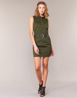 textil Dam Korta klänningar G-Star Raw ROVIC SLIM DRESS S/LESS KAKI