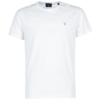 textil Herr T-shirts Gant THE ORIGINAL T-SHIRT Vit