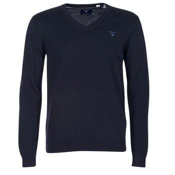 textil Herr Tröjor Gant WEIGHT COTTON V NECK Marin