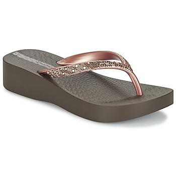 Skor Dam Flip-flops Ipanema MESH PLAT II Brun / Rosa