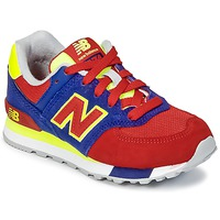 Skor Barn Sneakers New Balance KL574 Blå / Röd / Gul