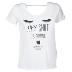 textil Dam T-shirts Kaporal ASMA Vit