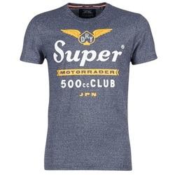 textil Herr T-shirts Superdry 500 CLUB MOTORRADER Grå
