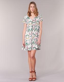 textil Dam Korta klänningar Compania Fantastica EPINETA Vit / Grön / Rosa