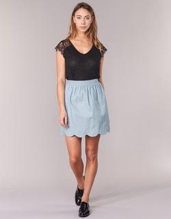 textil Dam kjolar Compania Fantastica EFESTONA Blå / Himmelsblå