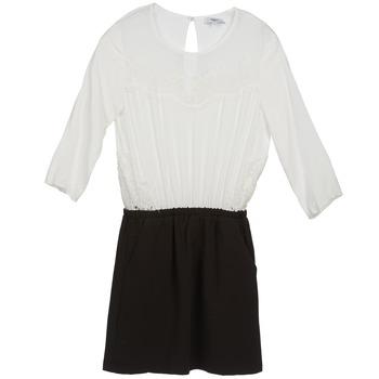 textil Dam Korta klänningar Suncoo CELESTINE Svart / Vit