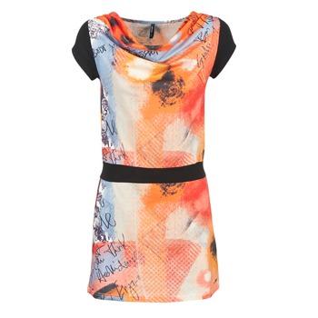 textil Dam Korta klänningar Smash CITRON Orange / Svart