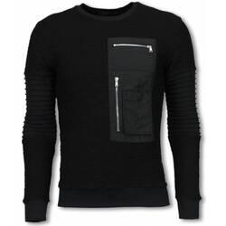 textil Herr Sweatshirts Justing Ribbel Arm Kevlar Pocket Men Svart