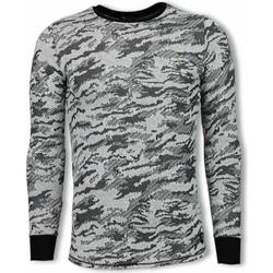 textil Herr Sweatshirts Tony Backer Army Look Long Fit UPZ Grå