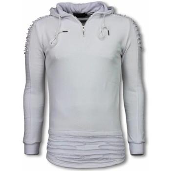 textil Herr Sweatshirts Justing Ripped Shoulder Long Fit Hoodie TYW Vit