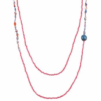 Klockor & Smycken Dam Halsband Zaza Factory INDIEN Rosa