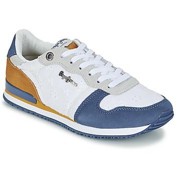 Skor Dam Sneakers Pepe jeans GABLE ANGLAISE SOUL Vit / Blå / Grå