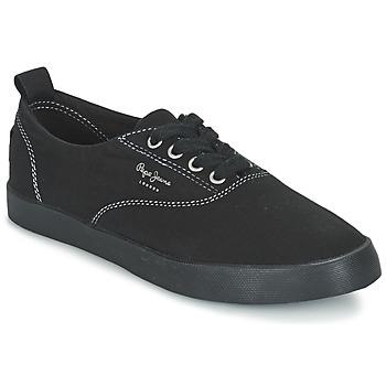 Skor Dam Sneakers Pepe jeans JULIA MONOCROME Svart