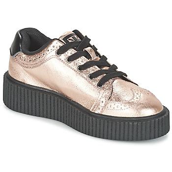 Skor Dam Sneakers TUK CASBAH CREEPERS Rosa / Metallfärg