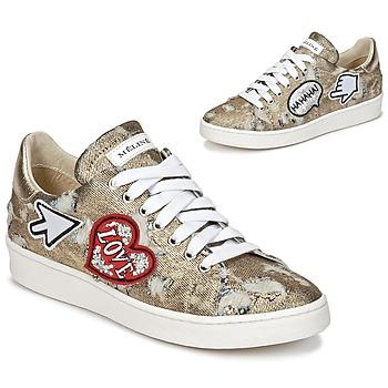 Skor Dam Sneakers Meline QOLI Guldfärgad