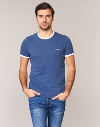 textil Herr T-shirts Teddy Smith THE TEE Blå