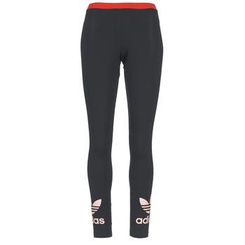 textil Dam Leggings adidas Originals TREFOIL LEGGING Svart / Rosa