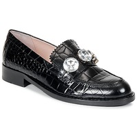 Skor Dam Loafers Moschino Cheap & CHIC STONES Svart