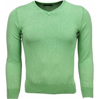 textil Herr Tröjor Tony Backer Men Blanco VNeck MG Grön
