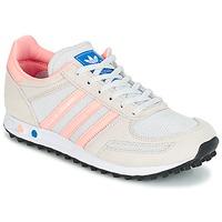 Skor Barn Sneakers adidas Originals LA TRAINER J Vit / Rosa