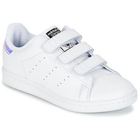 Skor Flickor Sneakers adidas Originals STAN SMITH CF C Vit