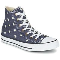 Skor Dam Höga sneakers Converse CHUCK TAYLOR ALL STAR DENIM FLORAL HI Marin / Gul / Vit