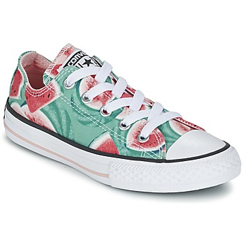 Skor Flick Sneakers Converse CHUCK TAYLOR ALL STAR WATERMELON OX Grön / Röd / Vit