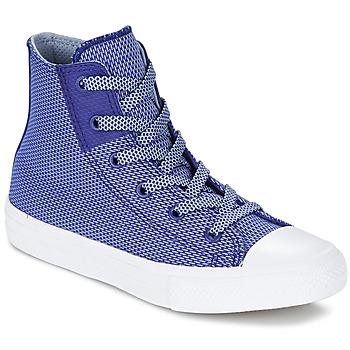 Skor Barn Höga sneakers Converse CHUCK TAYLOR ALL STAR II BASKETWEAVE FUSE TD HI INDIGO / Blå / Vit