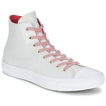 Skor Höga sneakers Converse CHUCK TAYLOR ALL STAR II BASKETWEAVE FUSE HI Benvit / Vit / Röd