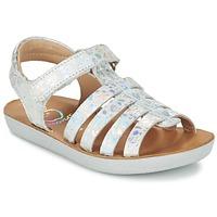 Skor Flick Sandaler Shoo Pom GOA SPART Silver