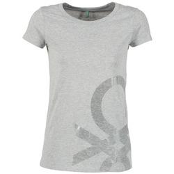 textil Dam T-shirts Benetton MADOUL Grå