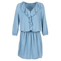 textil Dam Korta klänningar Benetton AFIDOUL Blå