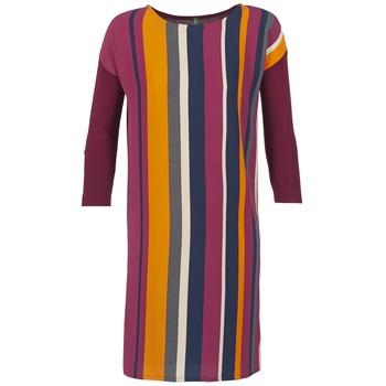 textil Dam Korta klänningar Benetton VAGODA Bordeaux / Flerfärgad