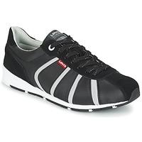Skor Herr Sneakers Levi's ALMAYER II Svart / Vit