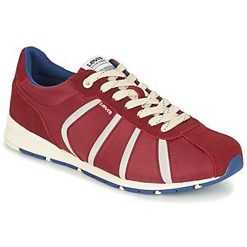 Skor Herr Sneakers Levi's ALMAYER II Röd
