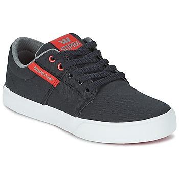 Skor Barn Sneakers Supra KIDS STACKS II VULC Svart / Röd