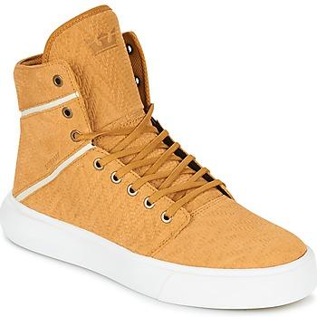 Skor Herr Höga sneakers Supra CAMINO Gul
