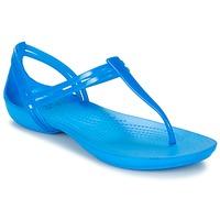 Skor Dam Sandaler Crocs CROCS ISABELLA T-strap Blå