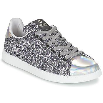 Skor Dam Sneakers Victoria DEPORTIVO BASKET GLITTER Silver