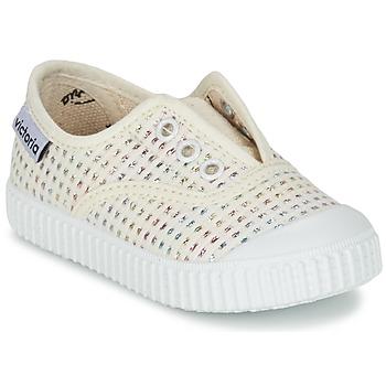 Skor Flick Sneakers Victoria INGLESA LUREX ELASTICO Beige
