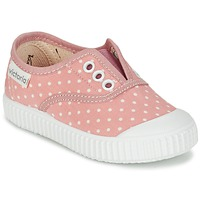 Skor Flick Sneakers Victoria INGLESA LUNARES ELASTICO Rosa / Vit
