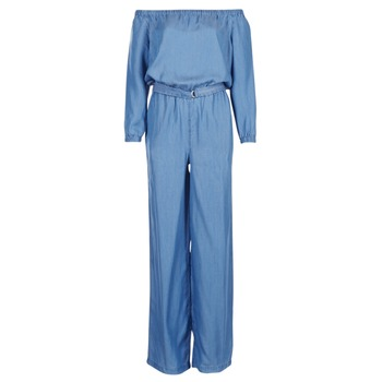 textil Dam Uniform MICHAEL Michael Kors TENCEL OFF SHDR JUMPSUIT Blå