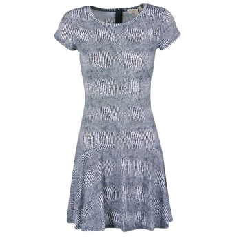 textil Dam Korta klänningar MICHAEL Michael Kors ZEPHYR SS FLARE DRS Blå / Vit